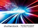 abstract motion speed railway... | Shutterstock . vector #725272207