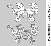 carriage for twins.... | Shutterstock .eps vector #725275897