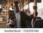 young african businessman...   Shutterstock . vector #725293783