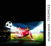realism of sporting images...   Shutterstock . vector #725299213