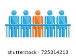 people in meeting with leader... | Shutterstock .eps vector #725314213