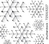 minimalistic christmas... | Shutterstock .eps vector #725315227
