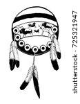 native american shield   vector ...   Shutterstock .eps vector #725321947