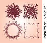 vintage frames and scroll... | Shutterstock .eps vector #725324497
