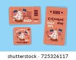 columbus day seasonal holiday...   Shutterstock .eps vector #725326117