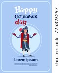 happy columbus day on holiday...   Shutterstock .eps vector #725326297
