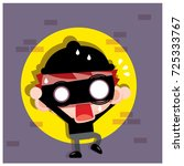 vector thief  robber character... | Shutterstock .eps vector #725333767