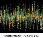 generative random square line... | Shutterstock .eps vector #725348143