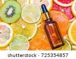 fruit vitamin c oil  serum ... | Shutterstock . vector #725354857