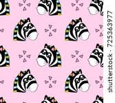 cute kids pattern for girls and ... | Shutterstock . vector #725363977