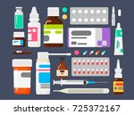 set of medicines. means from... | Shutterstock .eps vector #725372167