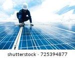 engineer team working on... | Shutterstock . vector #725394877