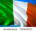 irish flag. ireland flag waving ... | Shutterstock . vector #725402527