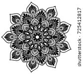 mandala for coloring book.... | Shutterstock .eps vector #725412817