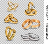 wedding realistic 3d couples... | Shutterstock .eps vector #725416537
