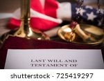 last will and testament... | Shutterstock . vector #725419297