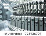 textile yarn industrial factory ... | Shutterstock . vector #725426707