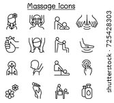 Massage   Spa Icon Set In Thin...
