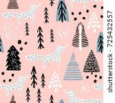 seamless winter pattern with... | Shutterstock .eps vector #725432557