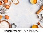 ingredients for baking    flour ... | Shutterstock . vector #725440093