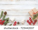 christmas background with... | Shutterstock . vector #725442037