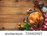 christmas or thanksgiving... | Shutterstock . vector #725452507