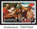 cyprus   circa 2016  a stamp... | Shutterstock . vector #725472463
