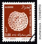 algeria   circa 1995  a stamp... | Shutterstock . vector #725483953