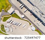 aerial view of warehouse with... | Shutterstock . vector #725497477