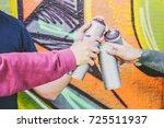 close up hands of people... | Shutterstock . vector #725511937