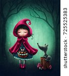 little red riding hood and the... | Shutterstock . vector #725525383