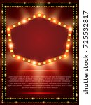 poster template with retro... | Shutterstock .eps vector #725532817