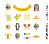 mexican the day of the dead ... | Shutterstock .eps vector #725537233