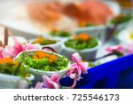 sushi japanese food on dish... | Shutterstock . vector #725546173