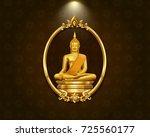 thai art frame border pattern... | Shutterstock .eps vector #725560177