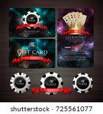 casino card design poker   vip | Shutterstock .eps vector #725561077