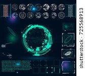 radar screen. vector... | Shutterstock .eps vector #725568913