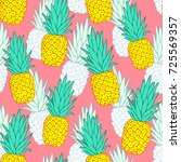 tropical seamless pattern with... | Shutterstock .eps vector #725569357