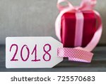 pink gift  label  text 2018 | Shutterstock . vector #725570683