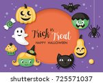 halloween holiday banner design ... | Shutterstock .eps vector #725571037