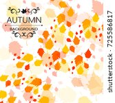 autumn leaf fall. vector... | Shutterstock .eps vector #725586817