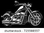 vintage chopper illustration... | Shutterstock .eps vector #725588557