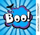 halloween style pop art icon... | Shutterstock .eps vector #725590477