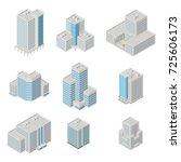 vector isometric city ... | Shutterstock .eps vector #725606173