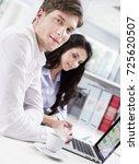 business co workers   Shutterstock . vector #725620507