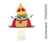 vector funny cartoon cool cute... | Shutterstock .eps vector #725625253