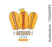 vector cartoon hotdogs icon set ... | Shutterstock .eps vector #725625493