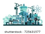 mechanical engineering. from... | Shutterstock .eps vector #725631577