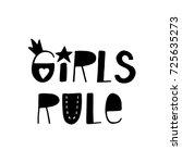 girls rule   fun hand drawn...   Shutterstock .eps vector #725635273