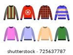 ugly sweaters set icon  yellow  ... | Shutterstock .eps vector #725637787